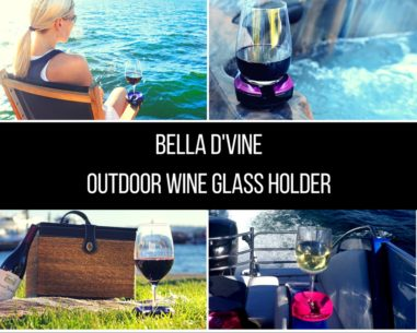 Bella D'Vine Outdoor Wine Glass Holder for concerts, boats, hot tubs, and camping