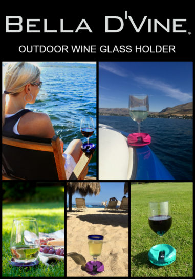 Bella D'Vine Outdoor Wine Glass Holder available on Amazon Prime
